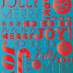 """falala holiday card typeography candy red and roya"" by dancacioppo"