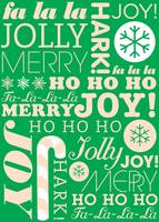 falala holiday card typeography Christmas Tree and