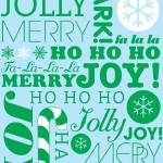 """falala holiday card typeography christmast tree an"" by dancacioppo"