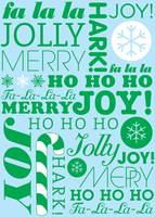 falala holiday card typeography christmast tree an