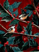 Chickadees and Holly