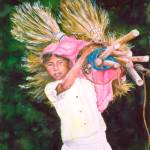 """Nicaraguan Girl with Brooms"" by anafanana"