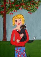 Black Cat and Cherry Tree