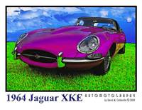 Purple 1964 Jaguar XKE