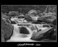 b&w river - long exposition