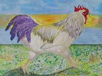 Rooster/Chicken Art - On The Run
