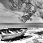 """Beached Boat BW"" by Cynthia_Burkhardt"