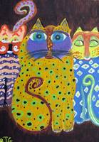 Caprice Cats Acrylic Painting