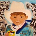 """Cowboy Hat, Mickey & Milk"" by originalartbyroxie"