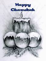 Graphite Chanukah Candle