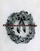 Graphite Christmas Wreath