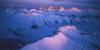 Dusk in the North Cascades Mountain Range