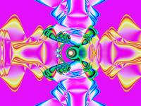 Pretty Pink Ribbon Fractal
