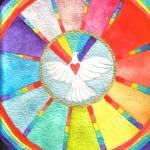 """""""Rainbow Heart Bird"""" by Christia"""