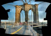 Autostitch Brooklyn bridge