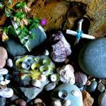 """Stone Series 4 Shrine St Ninians Cave"" by kenart"