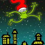 Christmas Frog Jumping out of Joy!