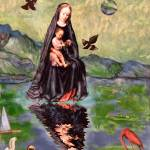 """Floating Madonna: surreal digital image Christmas"" by Eliora"