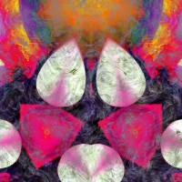 5 TEARDROPS AND 2 RUBIES, EDIT C Art Prints & Posters by Nawfal Johnson Nur