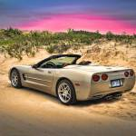 """Corvette On Sand Dunes"" by jameskorringa"