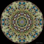 """Blue and Yellow Stained Glass Mandala"" by annesmandalas"