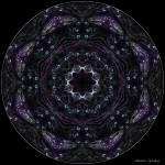 """Neon Purple Flower Mandala"" by annesmandalas"
