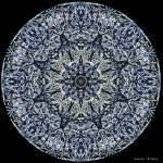 """Blue Stained-Glass Mandala"" by annesmandalas"