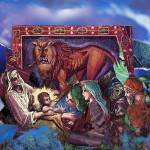 """Lion of Judah: nativity collage"" by Eliora"