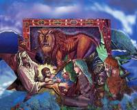 Lion of Judah: nativity collage
