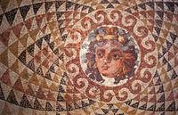 Mosaic Floor with the head of Dionysos