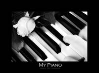 My Piano - Black and White Fine Art Poster