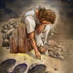 """Jesus Writing in the Sand"" by christinekerrick7"