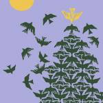 """Tesselated Dove ChristmasTree"" by Eliora"