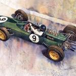 """Lotus 25 F1 Jim Clark Monaco GP 1963"" by shevchukart"