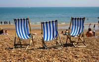 Deckchairs on Eastbourne Beach