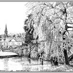"""Bakewell Bridge"" by mark-bright-art"