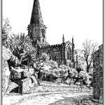 """Bakewell Church"" by mark-bright-art"
