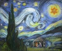 Holy, Starry Night: Christmas variation on Van Gog
