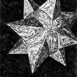 """Prophecy Star-etched geometrical, illustrated 3-D"" by Eliora"