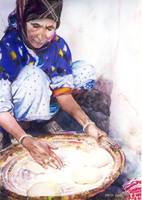 Woman Making Bread