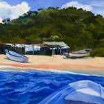 """Warren Keating MEXICO BEACH BOATS Fine Art Print"" by KeatingArt"