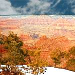 """Snow on the Rim, Grand Canyon National Park"" by trevortrent"