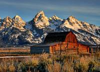Grand Tetons at Mormon Row