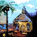 Island Chapel Bahamas Original Art by Ginette