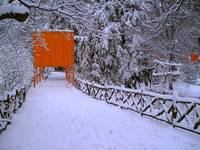 Gates and Snow Walkway