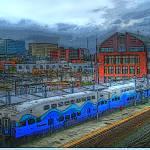 """The Train At Everett Station"" by LydiaGaebeBishop"
