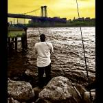 """Redhook Fisherman - Brooklyn, New York"" by madeline"