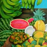 """Detail from ""Fruit Vendor"""" by BastetAcid"