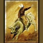 """Bull & Rider  Yee-Haa"" by SherryHolderHunt"