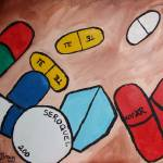"""Portrait of my Pills"" by janelbraggfineart"